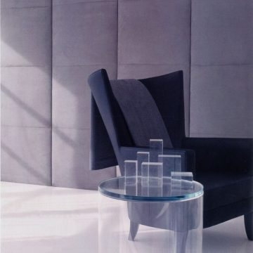 BARTSUEDE WALL PANELS & CHAIR with TAYLORWool Throw_preview