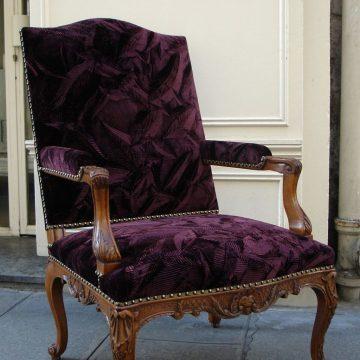 STAFFORD VELVET 'CUBIST Pleat' color Henna Louis XIV_preview