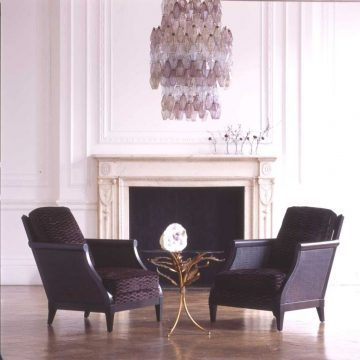 STAFFORD VELVET 'SWOOP PLEAT' on Hutton Chairs_preview