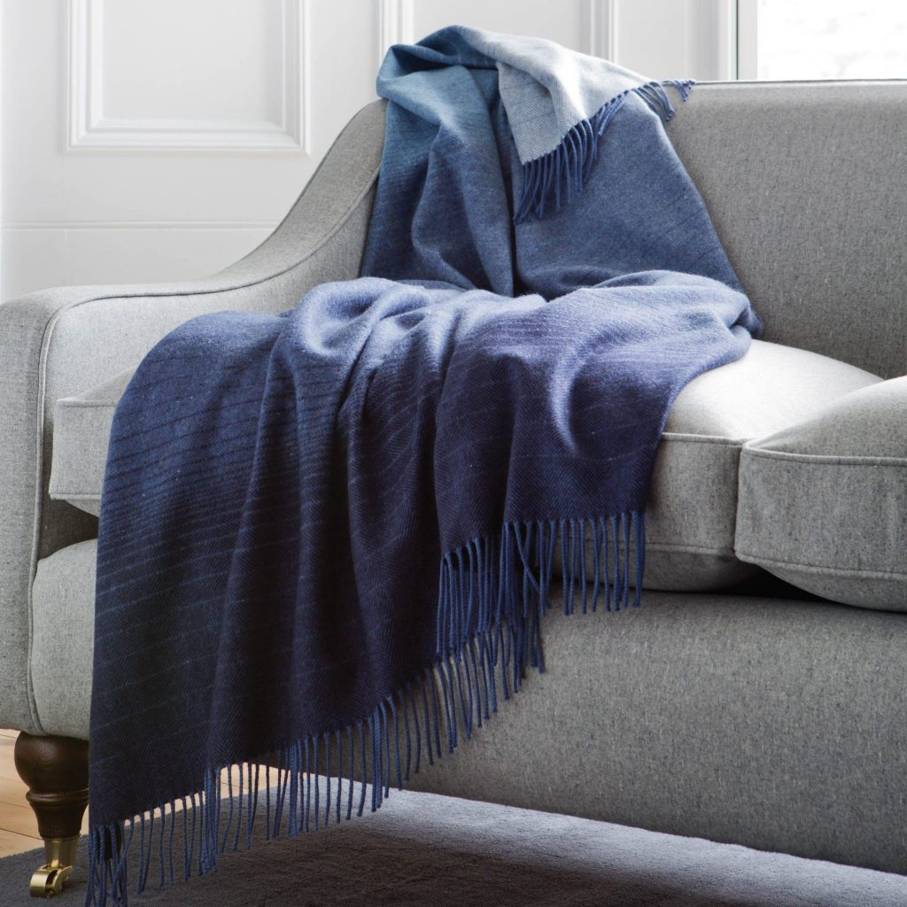 Cashmere Donegal Ombre Throw
