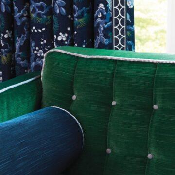 AthertonVelvet-Emerald-Sofa+Sapphire-BolsterPillow