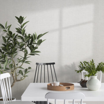 Mock up poster in Scandinavian style interior background
