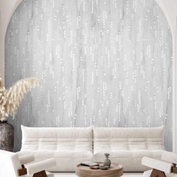 Contemporary minimalist white interior, Scandi-Boho style