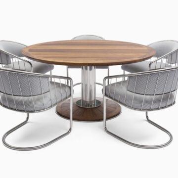 LINK Pedestal Dining Table (3)