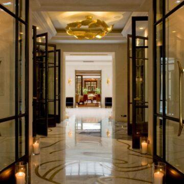 ANGELA chandelier - CASCADE wall sconces - Hotel Le Burgundy Paris