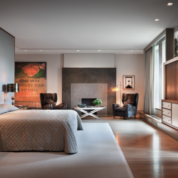 LOTUS table lamps - contemporary bedroom New York by Thad Hayes Inc